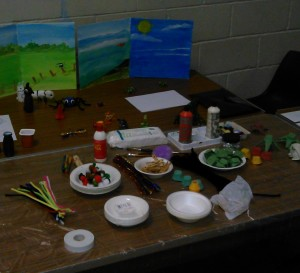 Messy Church craft table - cropped